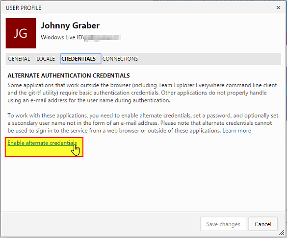 How to fix Authentication Problems for Visual Studio Online