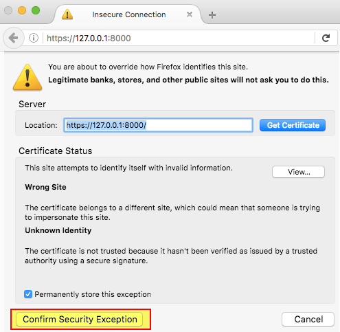 Allowing Self-Signed Certificates on Localhost with Chrome