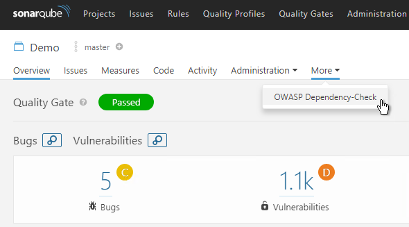 Using Dependency-Check with VSTS and SonarQube – Improve